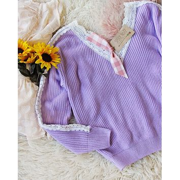 Lilac & Lace Sweater