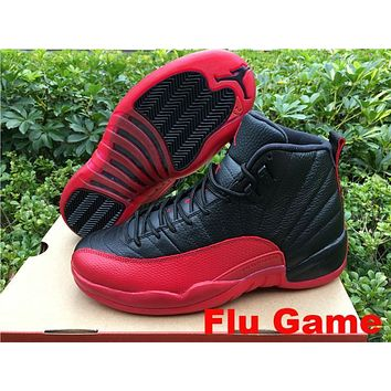 "Air Jordan 12 Retro ""Flu Game"" ""French Blue"" ""Taxi"" ""Rising Sun"" AJ 12 Men Women Basketball Shoes"