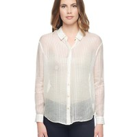 Lurex Stripe Silk Blouse by Juicy Couture