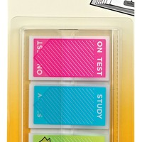 """Post-it Message Flags, """"Study, On Test, To Do"""", Assorted Bright Colors, .94-Inch Wide, 60 Flags/Pack (680-STUDY)"""