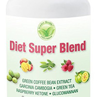 Diet Super Blend Dietary Supplement 60 Veggie Capsules By Tender Health for Healthy Weight Loss Helps with Appetite Control. Super Blend of Ten Natural Key Ingredients. Gluten Free Vegetarian Safe.