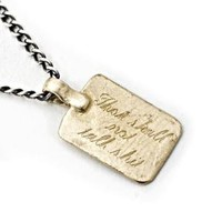 Catbird :: shop by category :: JEWELRY :: Mens/Unisex :: Thou Shall Not Talk Shit Necklace