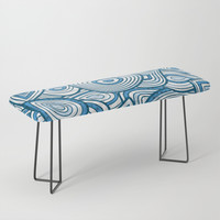 Blue Groove Thang Bench by groovyfinds