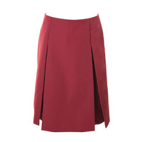 Marc Jacobs Womens Twill Pleated A-Line Skirt