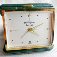 Vintage travel clock Bravingtons Renown by TimeSelect on Etsy