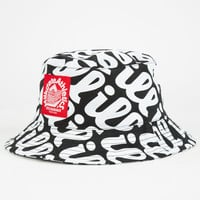 Milkcrate Athletics Ill Mens Bucket Hat Black/White One Size For Men 24800712501