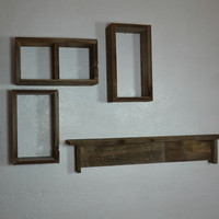 Set of wood shelves from eco friendly reclaimed wood