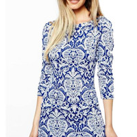 Floral printed Mini Bodycon Dress
