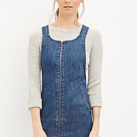 Zippered Denim Dress