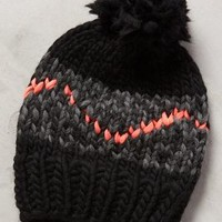 Zion Lion Pom Beanie by Wool and the Gang Black Motif One Size Scarves