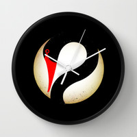 Black Swan Logo Wall Clock by chobopop