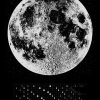 NEW - 2015 Moon Phases Calendar, 22x30 large screenprint, silver gold or copper print on black white, luna lunar wall art, space, stars