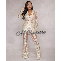 Karma Lace Two Piece Suit Set