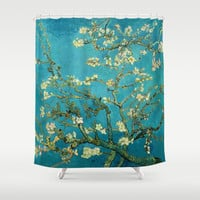 Vincent Van Gogh Blossoming Almond Tree Shower Curtain by Art Gallery