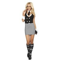 Sexy Naughty School Girl Aid Halloween Costume