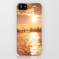 New York City Skyline Sunset iPhone Case by Vivienne Gucwa | Society6