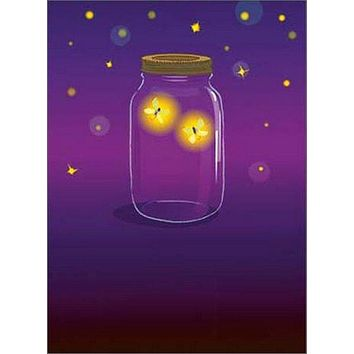 Anniversary Greeting Card  - Firefly Jar