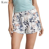 Women Girls Summer short Casual feminino Shorts female pantaloncini donna Drawstring Print 2018 Sexy High Waist shorts FB11A