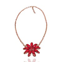 Mini Wild Flower Cut Out Chain Necklace