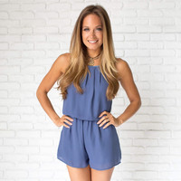Most Wanted Romper In Blue