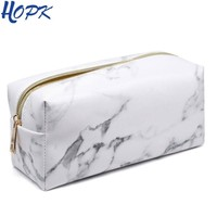 Marble Pencil Case for Girls Boy Pencilcase Makeup Storage Supplies Big Cosmetic Bag Bts Pencil Bag Pencil Box School Tools