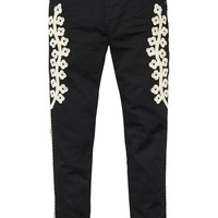 Embroidered Trousers | Slim boyfriend fit