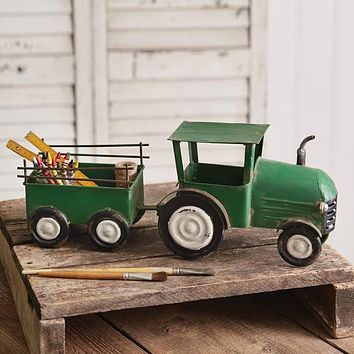 Green Tractor with Hauler