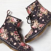 AEO Women's Dr. Martens 1460 Floral Boot (Black)