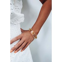 Late Bloomer Bracelet: Clear/Yellow