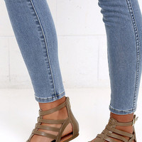 Sand a Chance Taupe Gladiator Sandals