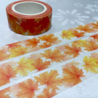 maple washi tape 7M autumn leaf fall scenes natural maple scenery masking tape fall leave decor scrapbook gift golden leaf sticker tape gift