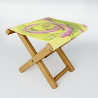 Rose - After the Rain Folding Stool by drawingsbylam