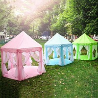 Portable Kids Play Tents Girls Princess Castle Indoor Outdoor Toys
