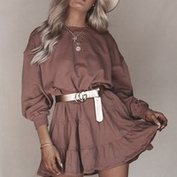 Blushing And Crushing Sienna Ruffle Dress