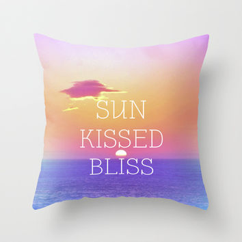Sun Kissed Bliss Throw Pillow by Ally Coxon