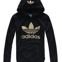 shosouvenir:Adidas trefoil Hoodie: fashion leisure men and women