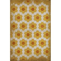 Vinyl Floorcloth ~ Pushing up Daisies