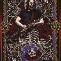 Grateful Dead Jerry Garcia Playing Card Poster 24x36