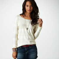 AE Knit Lace Sweater | American Eagle Outfitters