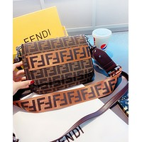 Fendi Fashion New More Letter Canvas Shopping Leisure Shoulder Bag Women Crossbody Bag