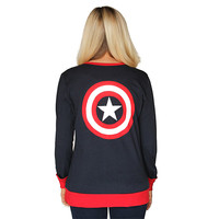 Captain America Logo Ladies' Cardigan