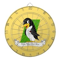 Cute penguin cartoon dart boards
