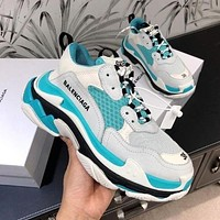 BALENCIAGA Triple s thick-soled men's and women's sneakers shoes #4