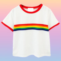 Gay Af Rainbow Crop Top