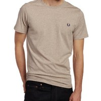 Fred Perry Men's Crew Neck Plain Tee, Walnut Marl, Large