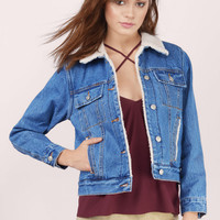 Dreamweaver Shearling Denim Jacket