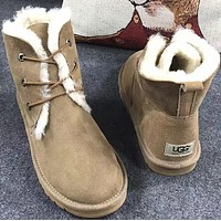 UGG Women male Fashion Wool Snow Boots-71