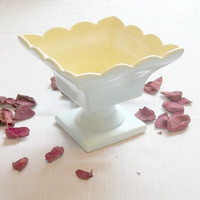 Vintage Hull Candy Dish Mint Green and Yellow Vintage Hull Candy Dish organizer, vintage collection, household decor