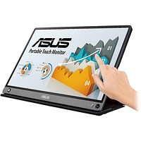 "ASUS ZenScreen MB16AMT 15.6"" Full HD 1920x1080 5ms USB Type-C Micro-HDMI Non-Glare HDCP Flicker-Free, Speakers Low Blue Light Touchscreen Portable IPS Monitor"