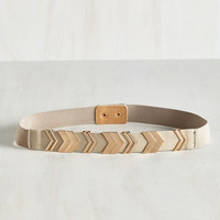 Chevron the Right Path Belt in Taupe by ModCloth